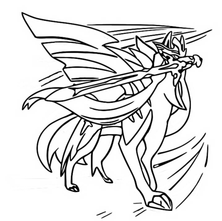 coloriage pokemon Zacian