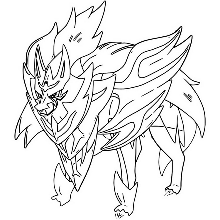 coloriage pokemon Zamazenta