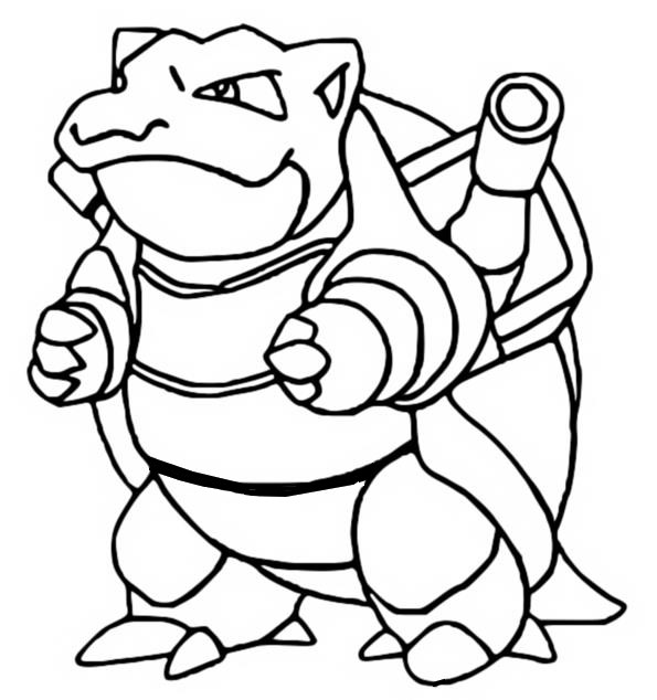 coloriage pokemon Tortank