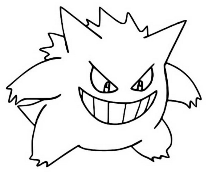 coloriage pokemon Ectoplasma