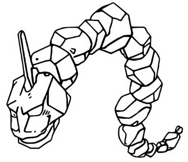 coloriage pokemon Onix
