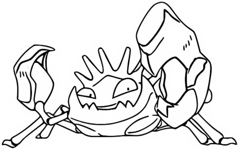 coloriage pokemon Krabboss
